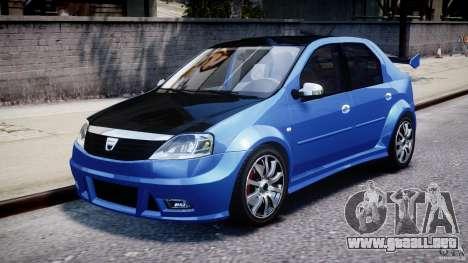 Dacia Logan 2008 [Tuned] para GTA 4 left