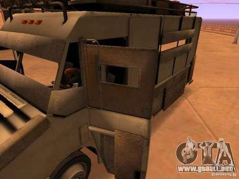 Monster Van para GTA San Andreas interior