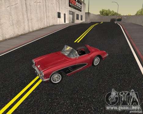 Chevrolet Corvette 1959 para GTA San Andreas vista hacia atrás