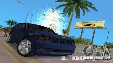 Jeep Grand Cherokee para GTA Vice City vista interior