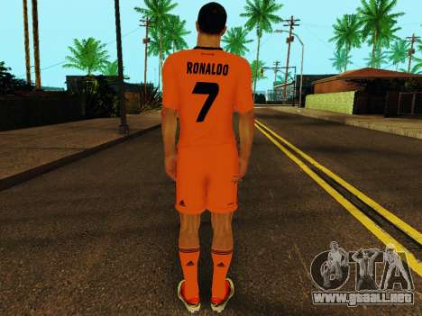 Cristiano Ronaldo v3 para GTA San Andreas sucesivamente de pantalla