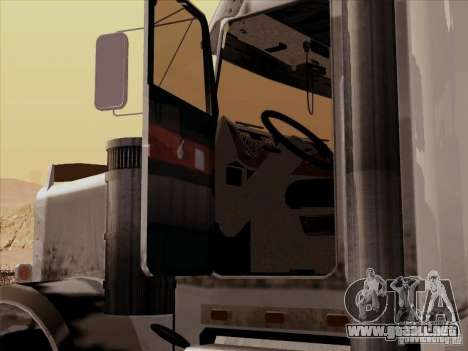 Kenworth W 900 RoadTrain para visión interna GTA San Andreas