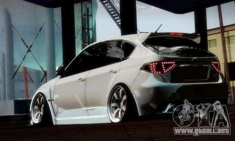 Subaru Impreza WRX Camber para vista inferior GTA San Andreas