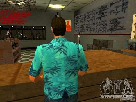 Tommy Vercetti en AMMU-NATION para GTA San Andreas tercera pantalla