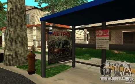 Nueva parada de autobús para GTA San Andreas segunda pantalla