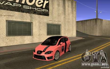 Seat Leon Cupra R para visión interna GTA San Andreas