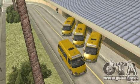 Gaz 2705 Minibus para la visión correcta GTA San Andreas