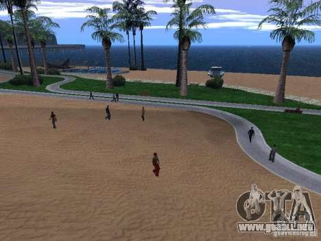Playa nueva textura v1.0 para GTA San Andreas segunda pantalla