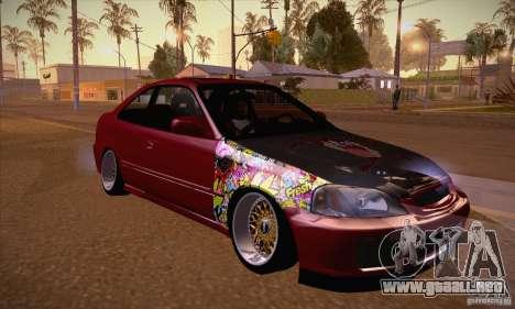 Honda Civic Tuning 2012 para GTA San Andreas vista hacia atrás