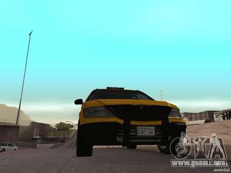 Taxista de GTA 4 para GTA San Andreas vista posterior izquierda