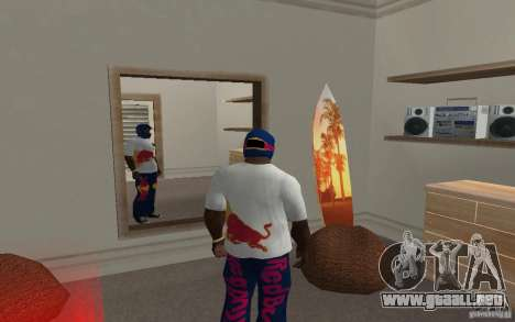 Red Bull Clothes v2.0 para GTA San Andreas segunda pantalla