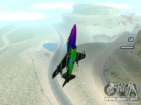 Colorful Hydra para GTA San Andreas vista posterior izquierda