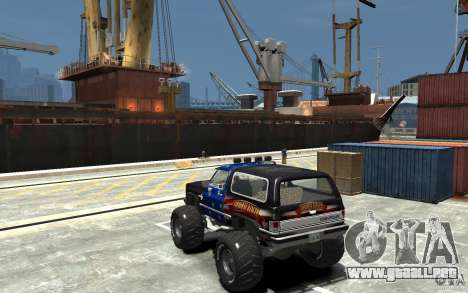 Chevrolet Blazer K5 1986 Monster Edition para GTA 4 Vista posterior izquierda