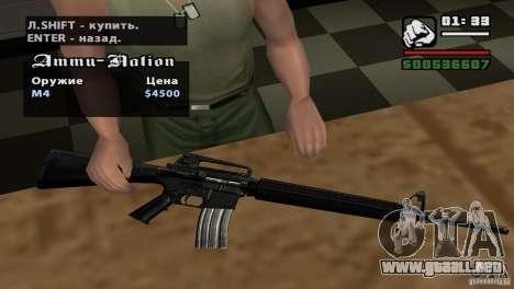 Asamblea de HD para GTA San Andreas novena de pantalla