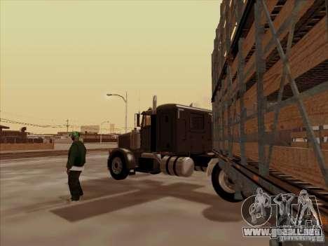 Peterbilt 378 para GTA San Andreas vista hacia atrás