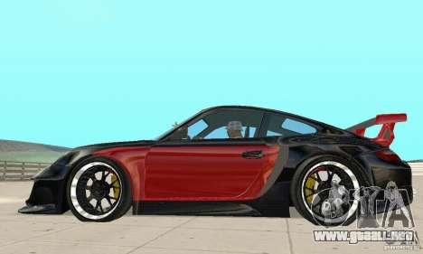 Porsche 911 GT2 NFS Undercover para GTA San Andreas vista posterior izquierda