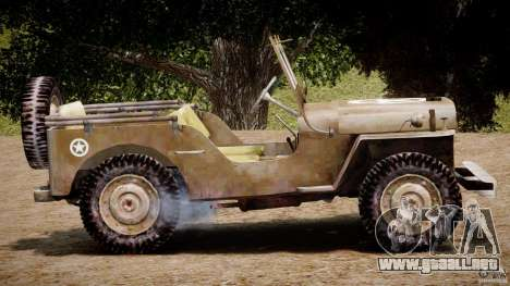 Jeep Willys [Final] para GTA 4 vista lateral