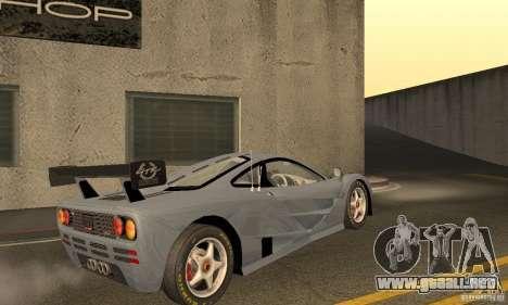 Mclaren F1 LM (v1.0.0) para la visión correcta GTA San Andreas