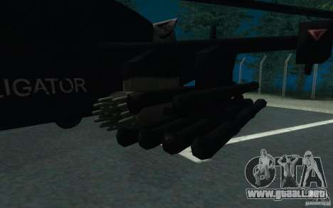 KA-52 ALLIGATOR v1.0 para la visión correcta GTA San Andreas
