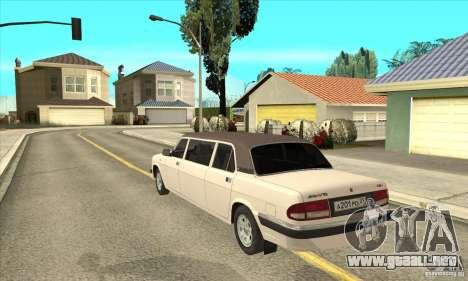 GAZ 3110 sedán para GTA San Andreas vista posterior izquierda