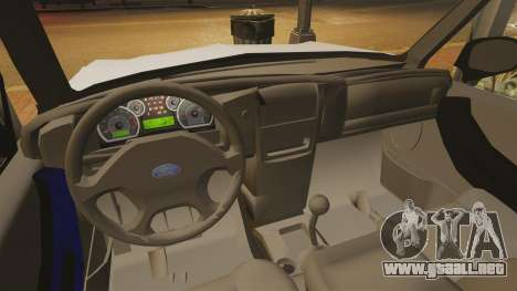 Ford Ranger 2008 XLR para GTA 4 vista interior