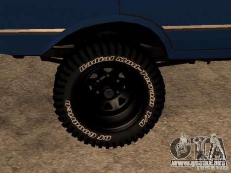 Moskvich 412-4 x 4 para GTA San Andreas left