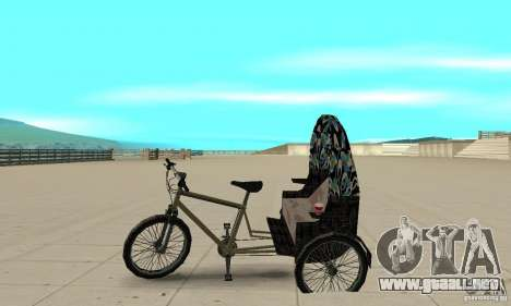 Manual Rickshaw v2 Skin3 para GTA San Andreas left