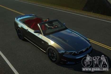 Ford Mustang GT Convertible 2013 para GTA 4 left