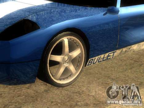 Bullet GT Drift para GTA San Andreas left