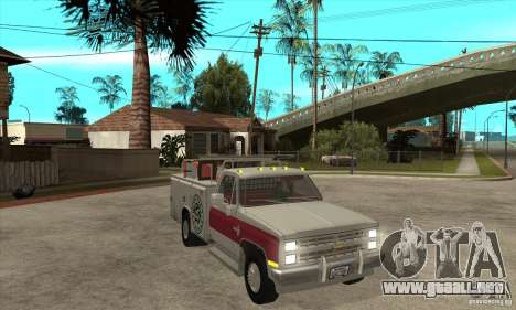 Chevrolet Silverado - utility para GTA San Andreas vista hacia atrás