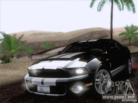 Ford Shelby Mustang GT500 2010 para las ruedas de GTA San Andreas