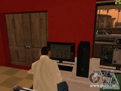 Ganton Cyber Cafe Mod v1.0 para GTA San Andreas quinta pantalla