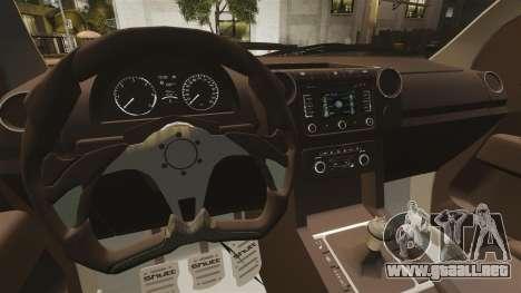 Volkswagen Amarok Light Tuning para GTA 4 vista interior