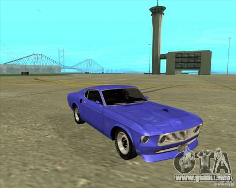Ford Mustang Boss 429 1969 para GTA San Andreas vista posterior izquierda