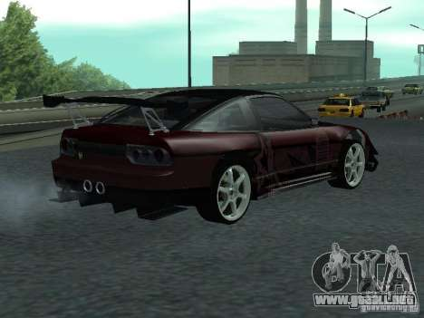Nissan 240 SX para GTA San Andreas vista posterior izquierda