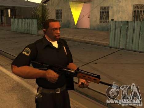 Pak armas nacionales actualizadas para GTA San Andreas sucesivamente de pantalla
