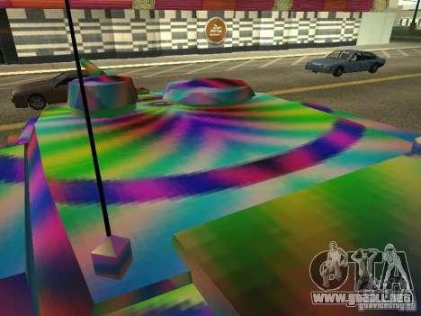 Un tanque de color alegre para GTA San Andreas vista hacia atrás