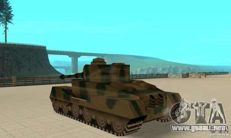 RL-Tiger Tank para GTA San Andreas vista posterior izquierda