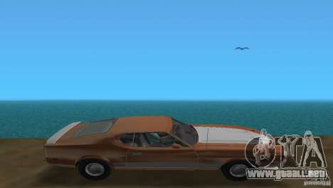 Ford Mustang 1973 para GTA Vice City vista posterior