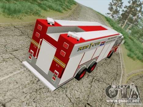 E-One F.D.N.Y Fire Rescue 1 para visión interna GTA San Andreas