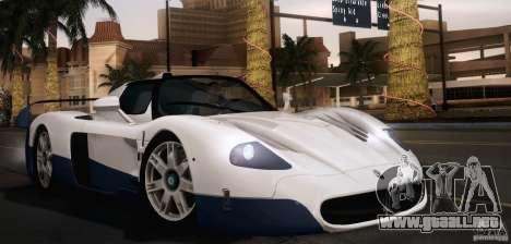 Maserati MC12 V1.0 para GTA San Andreas interior