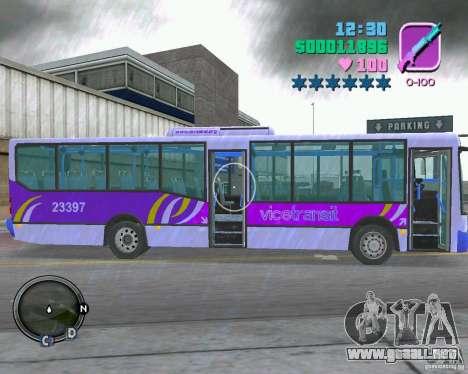 Marcopolo Bus para GTA Vice City vista posterior