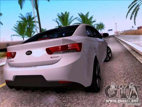Kia Forte Koup SX para vista lateral GTA San Andreas