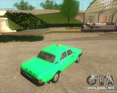 GAZ 31029 taxi para GTA San Andreas vista posterior izquierda