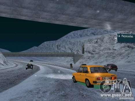 Nieve para GTA San Andreas octavo de pantalla