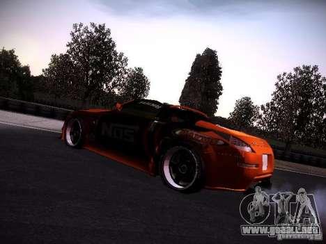 Nissan 370Z Chris Forsberg para GTA San Andreas vista posterior izquierda