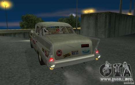Chevrolet BelAir Bloodring Banger 1957 para la visión correcta GTA San Andreas