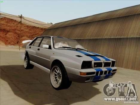 Lancia Integrale Evo para GTA San Andreas vista hacia atrás