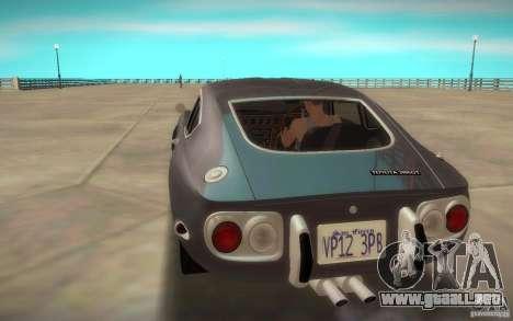 Toyota 2000GT 1969 para GTA San Andreas left