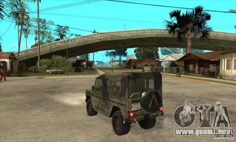 Mercedes Wolf para GTA San Andreas vista posterior izquierda